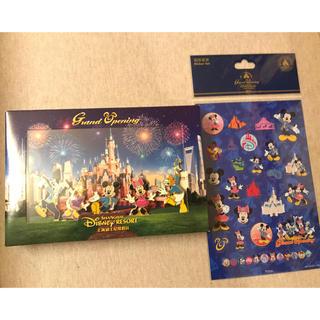 ディズニー(Disney)の激レア限定品 上海ディズニーランド グランドオープン完売 ピンバッジとステッカー(バッジ/ピンバッジ)