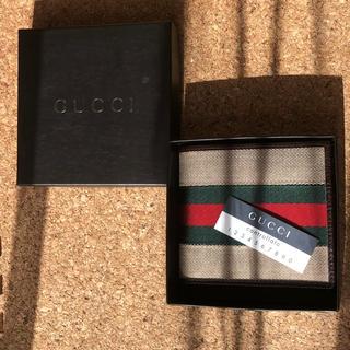 グッチ(Gucci)のGUCCI 新品同様 二つ折り財布(折り財布)