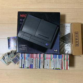 エヌイーシー(NEC)の激レア完動品 PCエンジンDUO&アスキースティック ソフト51本 天の声バンク(家庭用ゲーム機本体)