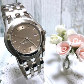 グッチ(Gucci)の【電池交換済み】GUCCI グッチ 5500XL 腕時計 ブラウン  メンズ(腕時計(アナログ))