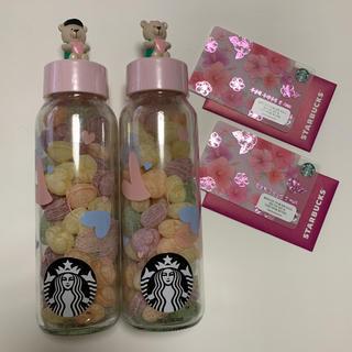 スターバックスコーヒー(Starbucks Coffee)の韓国 ベアリスタ スタバ スターバックス キャンディボトル スタバカード(菓子/デザート)