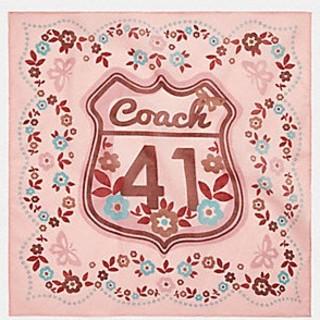 7580c2478d72 コーチ(COACH)のCOACH 41 (COACH F26600)バンダナ スカーフ ピンク(バンダナ
