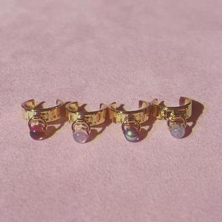 カンナビス レディース(CANNABIS LADIES)のLANIE vintage glass lock ring(リング(指輪))