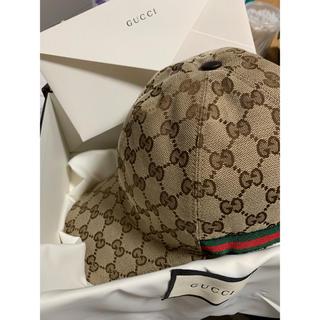 グッチ(Gucci)のgucci ggcap ブラウン(キャップ)