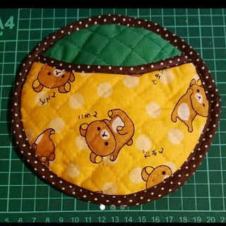 かわいい リラックマ 手作り皮製シャミー(ボール拭き)(ボウリング)