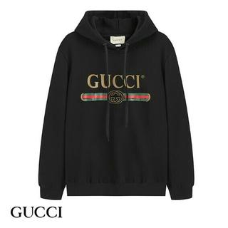 グッチ(Gucci)のgucci メンズパーカー プリントロゴ カジュアル(パーカー)