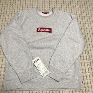 シュプリーム(Supreme)の18aw supreme box logo crew neck gray L(スウェット)