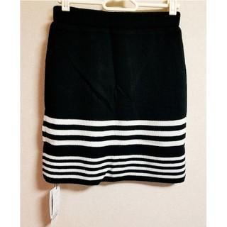 デイライルノアール(Delyle NOIR)の美品♡Delyle NOIR デイライルノアール パネルボーダーニットスカート(ミニスカート)