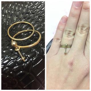ザラ(ZARA)のお洒落デザインリング✨ゴールドリング✨(リング(指輪))