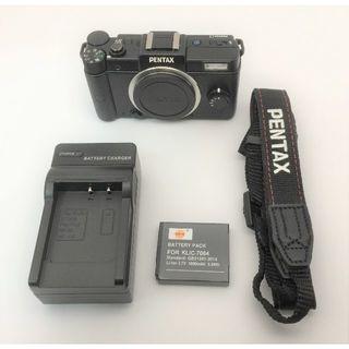 ペンタックス(PENTAX)のPENTAX Qブラック 本体+バッテリー+充電器 訳あり 普通に使えます。(デジタル一眼)