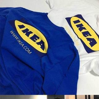残1枚!Lサイズ IKEA イケアTシャツ   BOXロゴ  韓国オルチャン