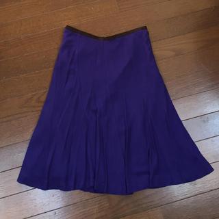 トゥモローランド(TOMORROWLAND)のtomorrowland dee fravor 膝丈スカート パープル 紫(ひざ丈スカート)
