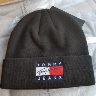 トミーヒルフィガー(TOMMY HILFIGER)の新品未使用 トミーヒルフィガー ニット帽 黒 TOMMY HILFIGER(ニット帽/ビーニー)