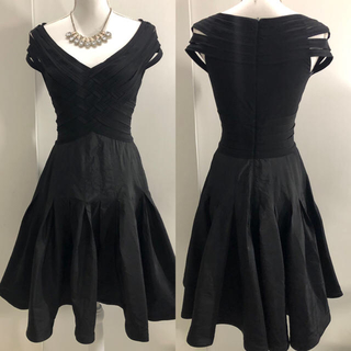 TADASHI SHOJI - Tadashi shoji タダシショージ ブラック フレア ミディアムドレス