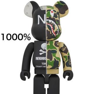 新品 未開封 エイプ ネイバーフッド ベアブリック   1000%