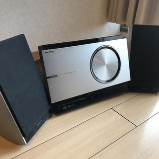 オンキヨー(ONKYO)のONKYO CD/MDチューナーアンプシステム シルバー X-T1X(S(ポータブルプレーヤー)