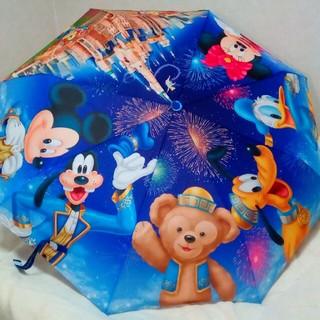 Disney - 上海ディズニーランド■折り畳み傘 グランドオープン ダッフィー ミッキー ミニー