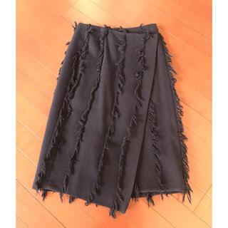 デミルクスビームス(Demi-Luxe BEAMS)のデミ  ルクス  ビームス  ウールラップスカート(ひざ丈スカート)