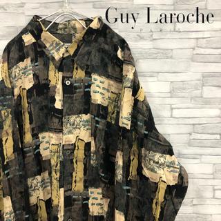 guy laroche (ギラロッシュ) 総柄シャツ アート 個性的