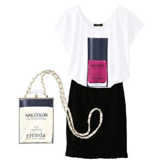 rienda - 【新品】rienda ネイルラッカーTシャツ