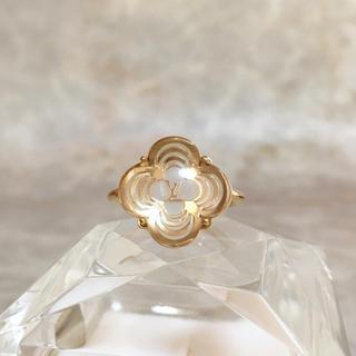 ルイヴィトン(LOUIS VUITTON)の正規品 ヴィトン 指輪 アラフォリ 花 フラワー 金 クリア ゴールド リング(リング(指輪))
