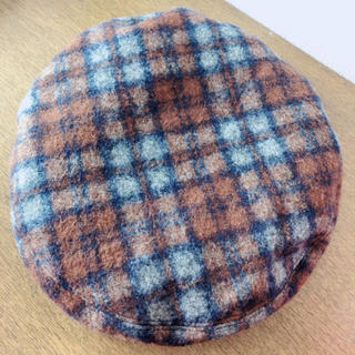 スピンズ(SPINNS)のチェックベレー帽(ハンチング/ベレー帽)