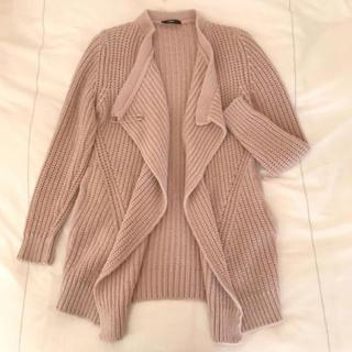 ディーゼル(DIESEL)のDIESEL 2Wayニットジャケット♡春も着れるくすみピンク♡(ニット/セーター)