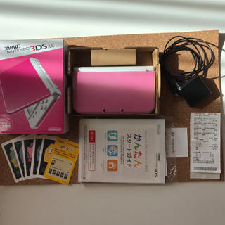 ニンテンドー3DS - new 3ds LL  ピンク×ホワイト