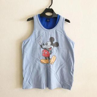 ディズニー(Disney)のミッキー レイヤード タンクトップ ブルー(タンクトップ)