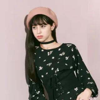ジーユー(GU)のベレー帽 GU  ピンクベージュ 未使用(ハンチング/ベレー帽)