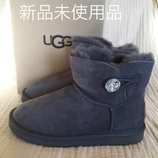 アグ(UGG)のUGG MINI BAILEY BUTTON BLING グレー 26cm 新品(ブーツ)