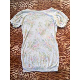 キャメロンレイシー(Cameron Racy)のCameronRecyバルーンパフ袖Tシャツミニワンピスエットキャメロンレイシー(ミニワンピース)