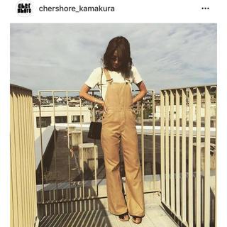 シェル(Cher)のchershore スウェード オーバーオール サロペット オールインワン(サロペット/オーバーオール)