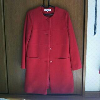 ナチュラルビューティーベーシック(NATURAL BEAUTY BASIC)の最終値下げnatural beauty basic 赤コート(ロングコート)