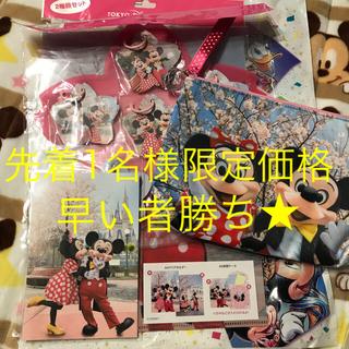 Disney - ディズニー 実写 桜セット ポーチ メモ ファイル ポストカード