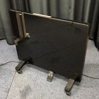 ニトリ(ニトリ)の美品 ニトリ ガラスパネルヒーター HCC10 ブラック リモコン付(電気ヒーター)