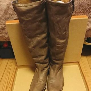 アトリエブルージュ(atelier brugge)のatelier brugge 革製ロングブーツ 23.5cm(ブーツ)