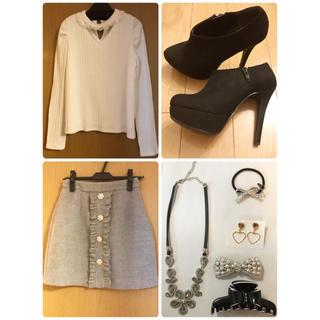 トップス、スカート、靴、アクセのセット(セット/コーデ)