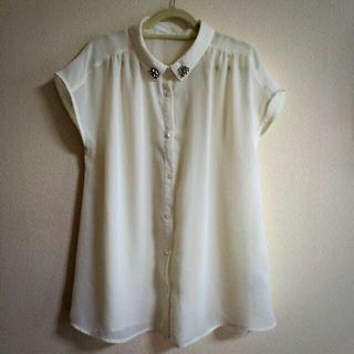 ミスティウーマン(mysty woman)の透け感トップス(Tシャツ(半袖/袖なし))