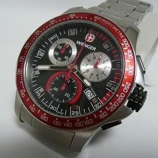 ウェンガー(Wenger)のウェンガー Wenger バタリオン クロノグラフ 未使用品 (腕時計(アナログ))