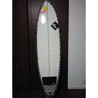 クイックシルバー(QUIKSILVER)の美品 クイックシルバー ロキシー サーフボード  ショートボード ファンボード (サーフィン)