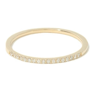 アガット(agete)のアガット k10 YG ダイヤ エタニティ ピンキー リング ✨  指輪(リング(指輪))