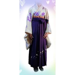 二尺袖、袴 セット 小学生 卒業式(着物)