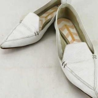 ニコラスカークウッド(Nicholas Kirkwood)の ニコラスカークウッド レディース フラットシューズ 靴 37 1/2 ホワイト(ハイヒール/パンプス)