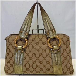 0ad026b71b25 グッチ(Gucci)の1179. 美品 GUCCI GGバンブー メタル ハンドバッグ(ハンドバッグ