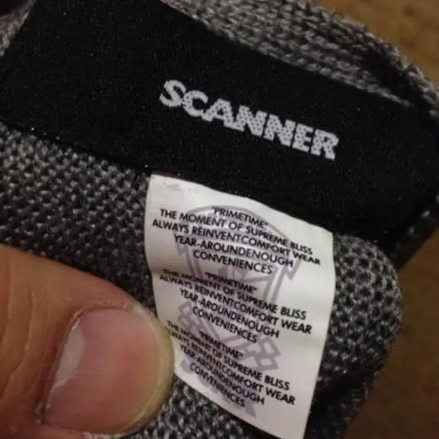 SCANNER(スキャナー)のスキャナー scanner マフラー グレー×蛍光グリーン メンズのファッション小物(マフラー)の商品写真