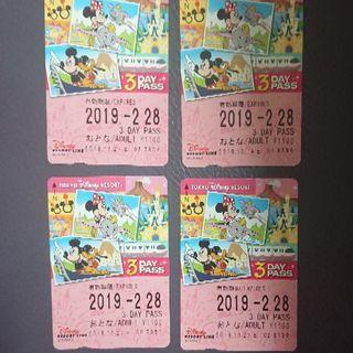 ディズニー(Disney)のディズニーリゾートライン3day(鉄道乗車券)