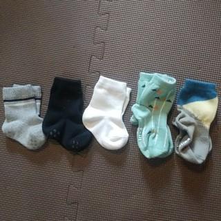ベルメゾン(ベルメゾン)の靴下 5足セット 9~15センチ 白黒グレー(靴下/タイツ)