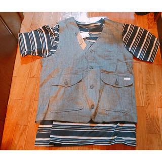 トロイ(TOROY)のTROI トロイ 半袖Tシャツ メンズ Mサイズ ベスト 新品未使用 タグ付き(Tシャツ/カットソー(半袖/袖なし))