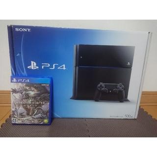 プレイステーション4(PlayStation4)のPS4 ブラック 500GB CUH-1100(家庭用ゲーム機本体)
